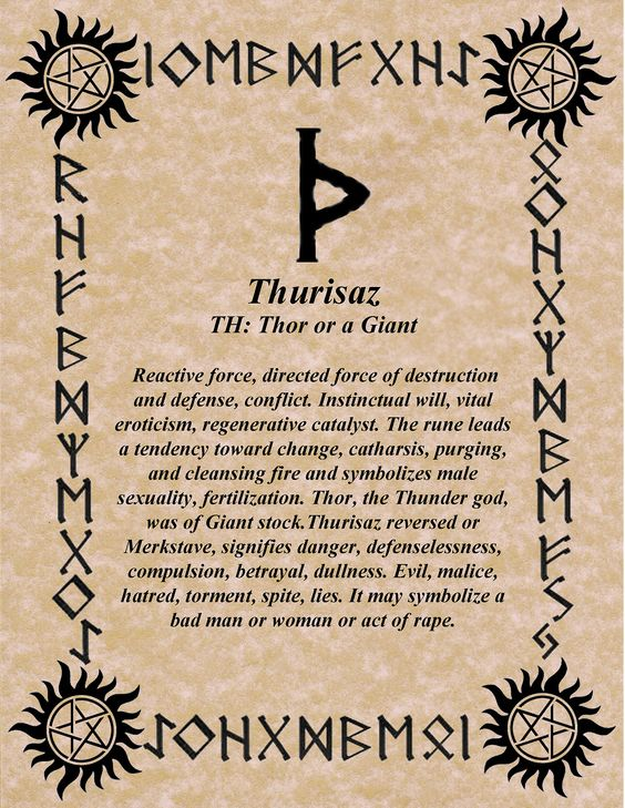 DAILY RUNE! THOR'S RUNE FOR THURSDAY! www.NORSEWARLOCK.com Can be used in combo with H - as an Elf shot....by Galdoring...