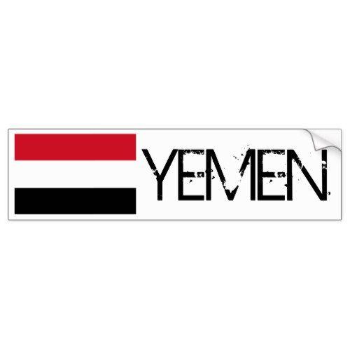 Yemen Flag Bumper Sticker Bumper Stickers Yemen Flag Yemen