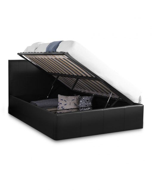 Reveal Lift Storage Bed Open Murphybeddesk Storage Bed Bed