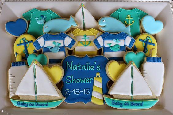 baby boy nautical cookies