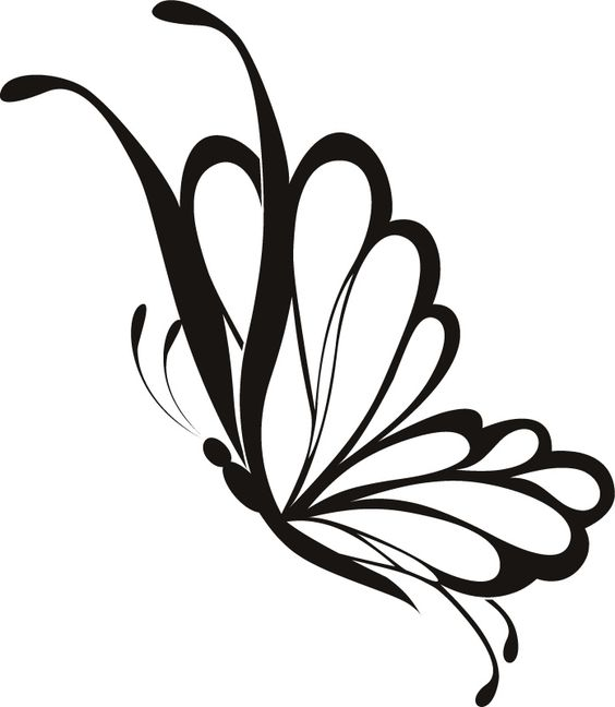 Line Drawing Butterfly Tattoo : Simple flying butterfly drawing google search
