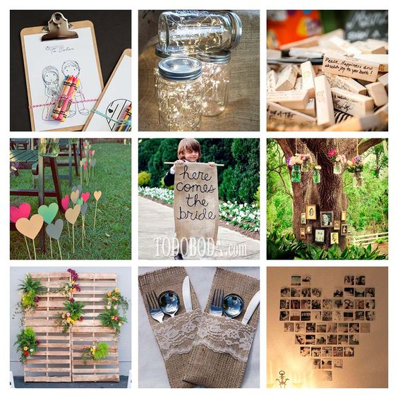 Nine DIY Ideas do not cost you at your wedding - TodoBoda.com