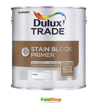 Dulux Trade Trade Stain Block Plus White 2.5Ltr  http://www.247homeshopping.com/