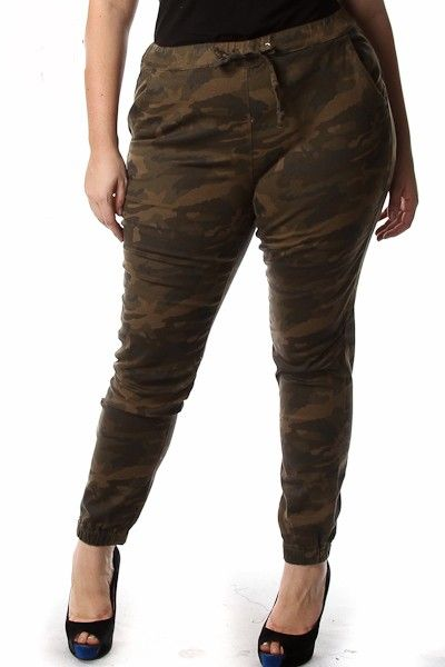Plus Size Camo Print Cuffed Pants Availability: In stock.  $34.95 - See more at: http://www.pinkclubwear.com/plus-size-camo-print-cuffed-pants.html#sthash.AYo99yG3.dpuf