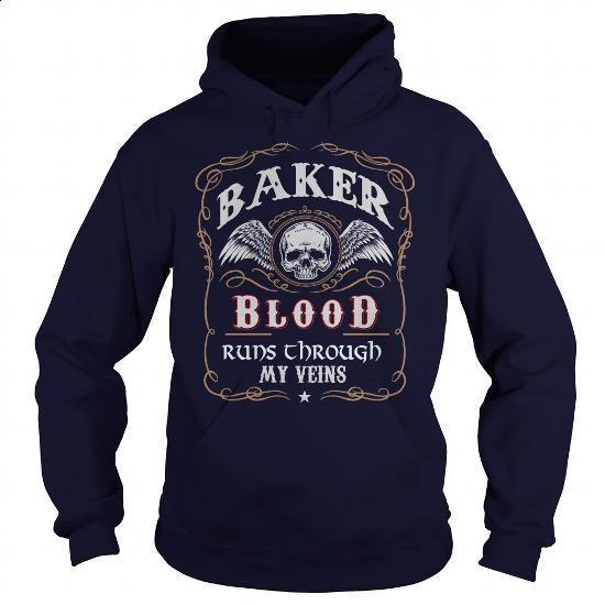 BAKER - #sweat shirts #cotton shirts. I WANT THIS => https://www.sunfrog.com/Names/BAKER-139518761-Navy-Blue-Hoodie.html?id=60505