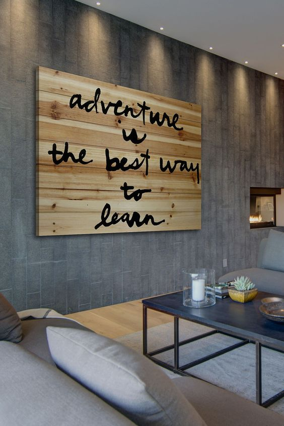 Adventure is the Best Brown Distressed Wood Wall Art by Marmont Hill Inc. on @HauteLook