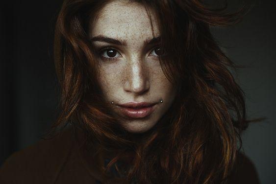 Facial piercings. Via Alessio Albi. #portrait
