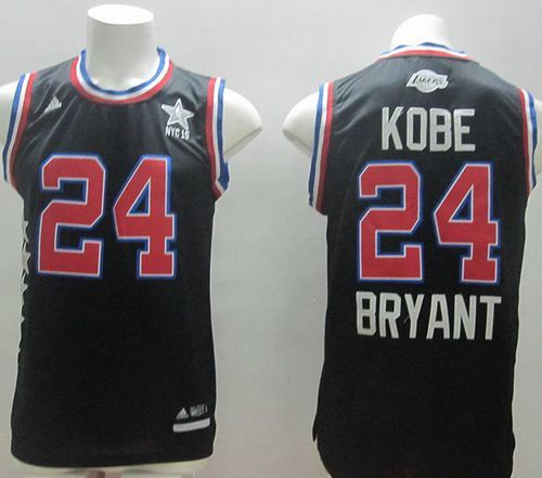 Lakers 24 Kobe Bryant Black 2015 All Star Stitched NBA Jersey