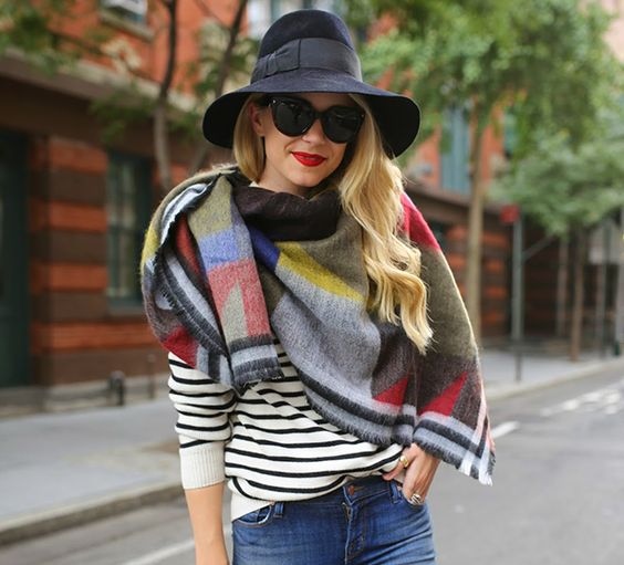 Image result for blanket scarf street style