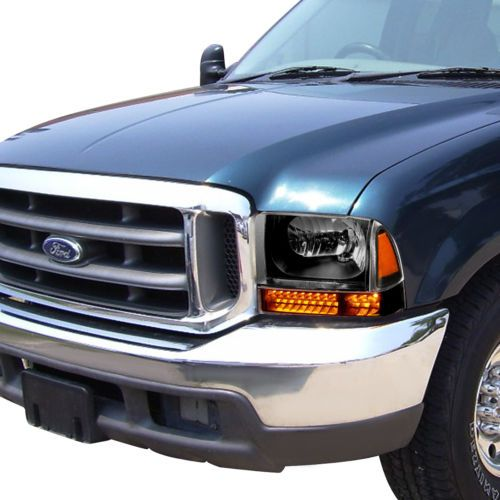 Led Turn Signal For 99 04 Ford Super Duty Black Amber Corner Headlight Lamps F250 Ford F250 F350 Super Duty