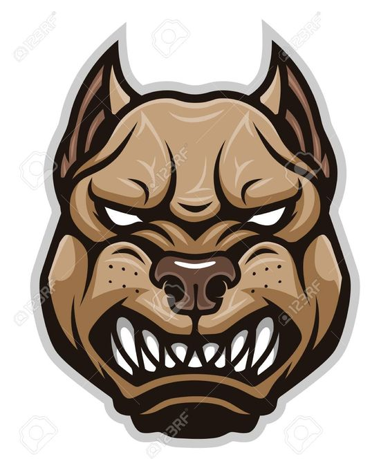 Angry Dog Pitbull Head Ad Dog Angry Head Pitbull