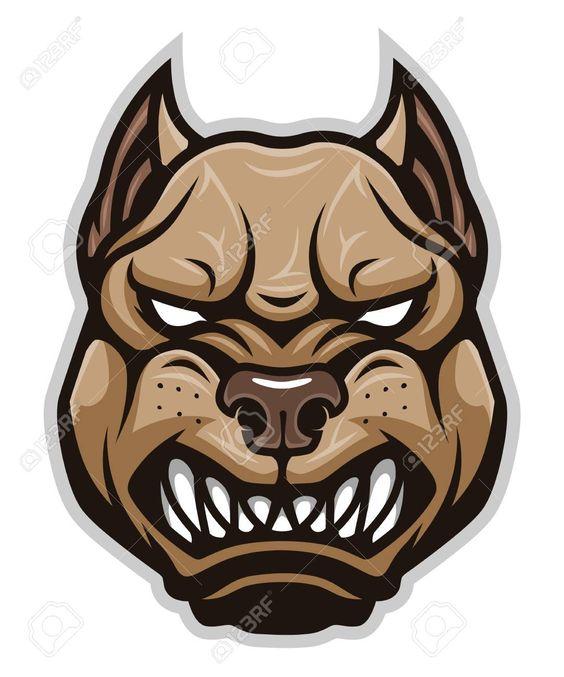 Angry Dog Pitbull Head Ad Dog Angry Head Pitbull
