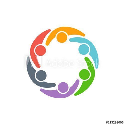 Teamwork People Logo Vector Design Education Children Logo School Childhood Child People Learning Happy Backgrou People Logo Vector Design Kids Logo