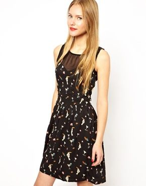 Yumi Dress In Parrot Cocktail Print