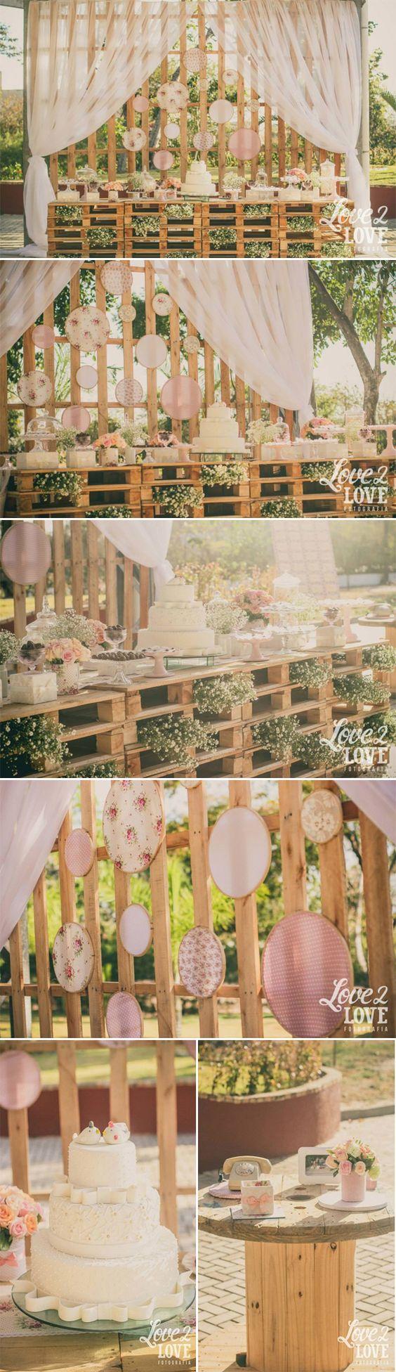 Decoração rústica em tons pastel | LaPartieDiva: