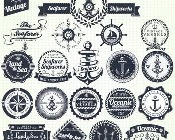 Vintage Sailor and Mariner Logo Vector | Anchor love | Pinterest ...