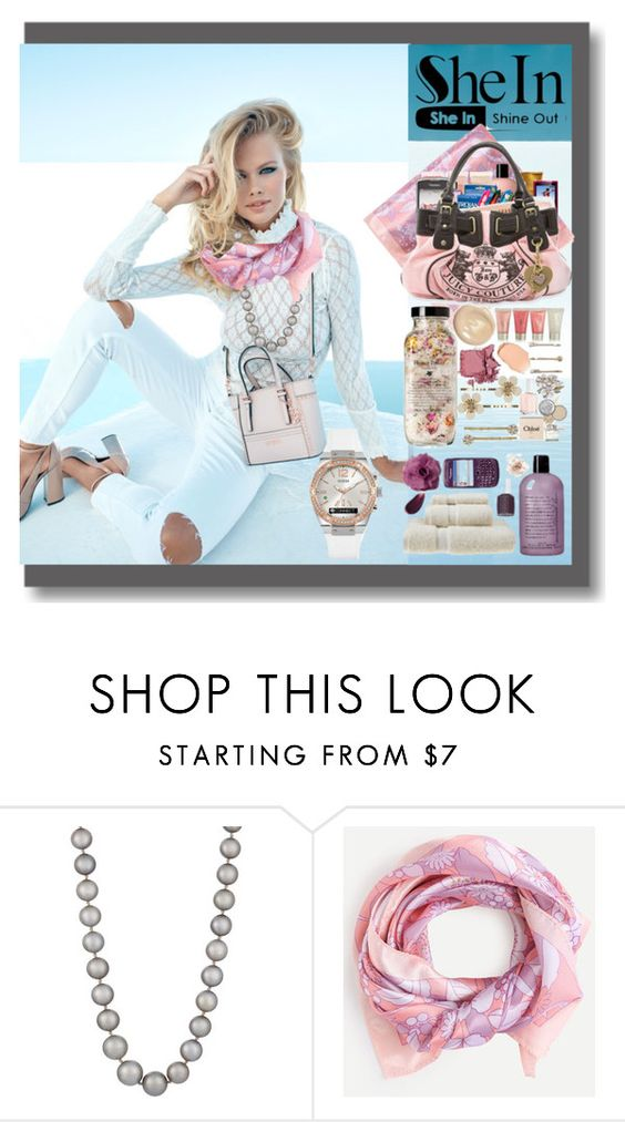 """""""PAÑUELO ROSADO 3"""" by silviaracchi ❤ liked on Polyvore featuring GUESS and Zoe"""