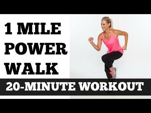1 Mile Power Walk Full Length Walking Workout Video Low Impact - YouTube