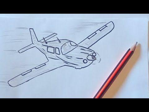 تعلم الرسم للمبتدئين رسم طائرة جميلة خطوة بخطوة Youtube Drawings Pencil Drawings Draw