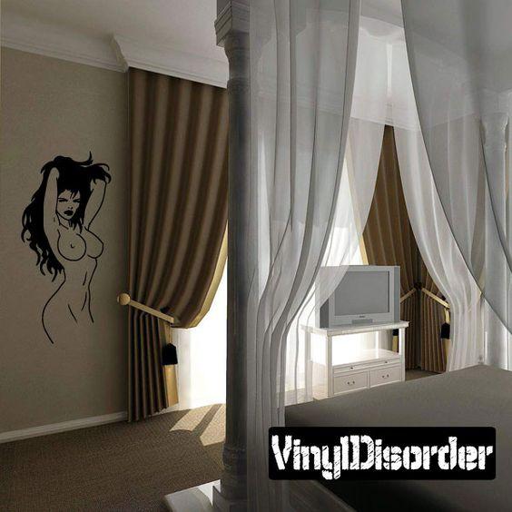 Sexy Girl Wall Decal - Vinyl Decal - Car Decal - CF12368