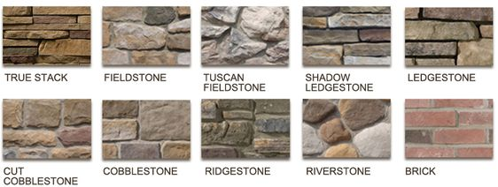 Maintenance free stone low maintenancce exterior cladding natual looking stone veneer types Types of stone for home exterior