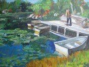 Boating at Arrow Park Acrylic