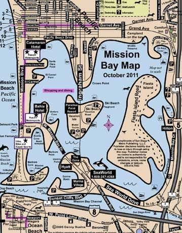 Mission Bay San Diego Area Map