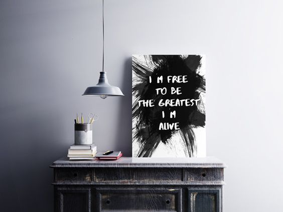 Sia The Greatest - Song Lyrics Art - Sia Poster - Home Decor - Typography print - Black and white printable - Wall Art - Watercolor - ALIVE