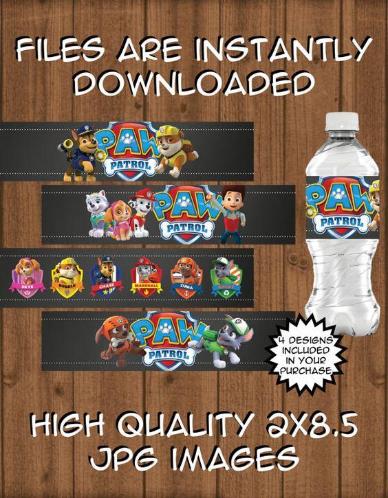 Etiquetas de botellas de agua de la patrulla de por TheRiteInvite