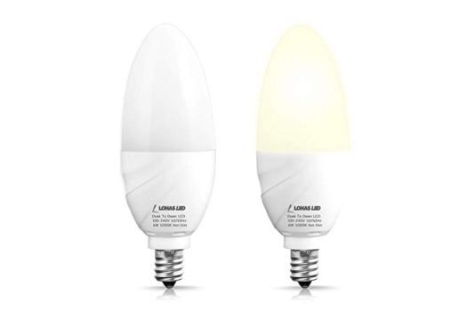 30 0 Off Coupon Lohas E12 Candelabra Led Bulb Dusk To Dawn Light Sensor Light Bulbs 6w 60w Equivalent Daylight Whit Security Lights Led Bulb Led Candles