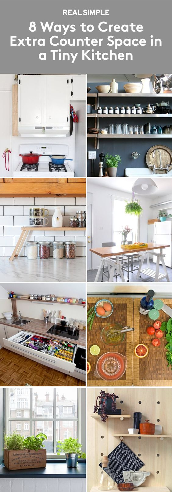 Tiny Kitchens Counter Space And Spaces On Pinterest