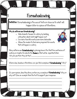Printables Foreshadowing Worksheet defining identifying foreshadowing simple and worksheets an attractive yet worksheet to practice discussing with any story