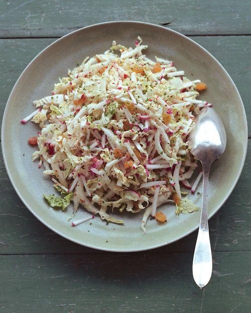 Shredded Napa Cabbage Salad with Radishes, Golden Raisins, and Dijon Dressing - Martha Stewart Recipes