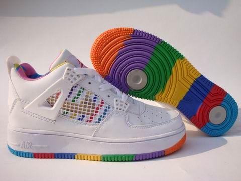 Air Jordan Fusion 4 Women Shoes Rainbow - Authentic Jordans For Women