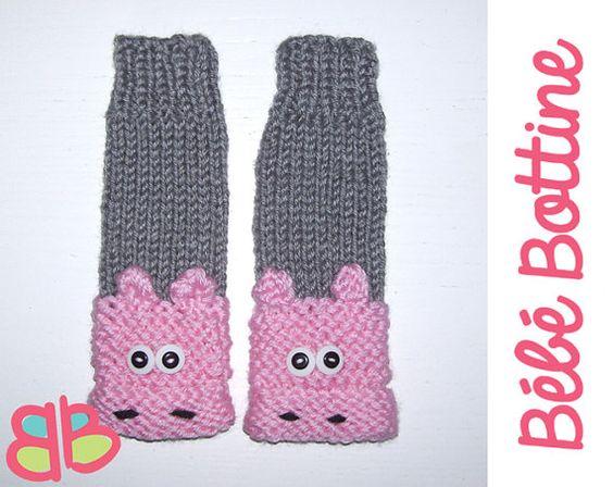 Knitted Newborn Toddler Baby Children Pig Legs Warmers Leggings Legs - handmade knit, great for photo prop