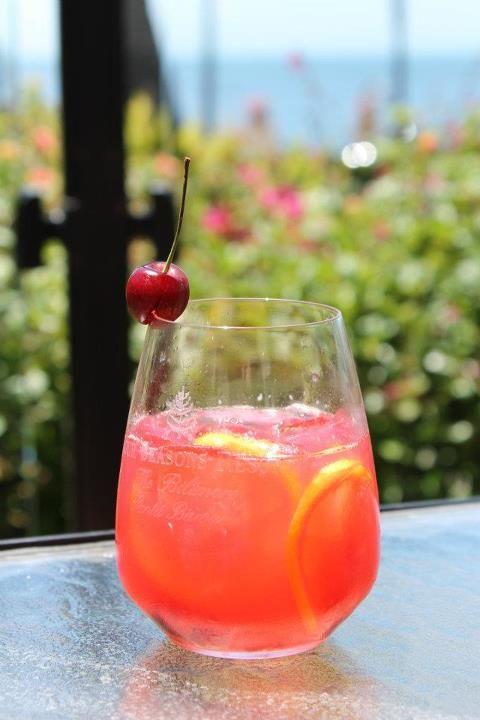 From @FSSantaBarbara: Patriotic Punch: Fresh local cherries, Hangar 1 vodka, and sparkling lemonade. http://www.FourSeasons.com/SantaBarbara/