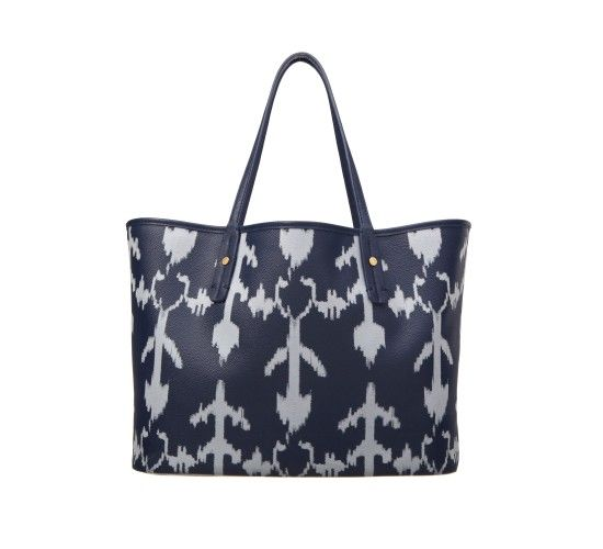 Ikat Coated Canvas Tote - Bags - Shop by Category - Shoes & Bags
