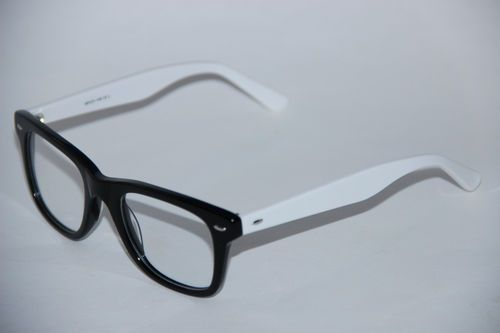 first act mg501 ukulele optical frames monochrome and retro - White Frame Glasses