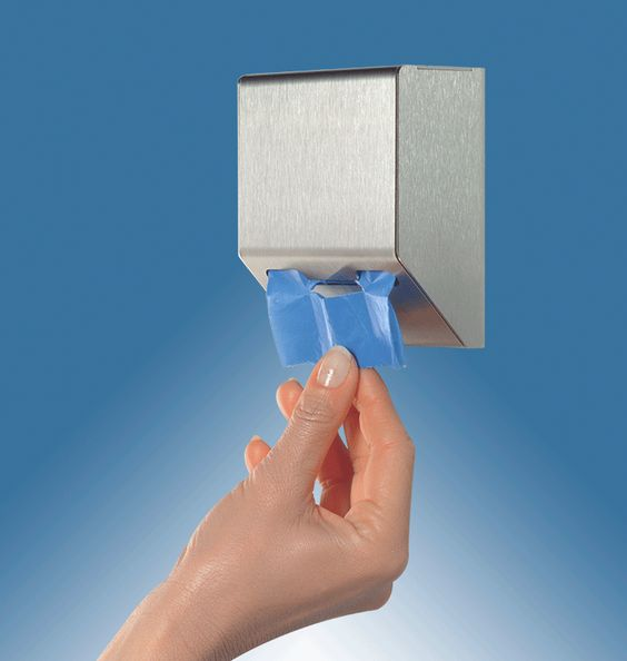 Hygienebeutelspender, extrem robust, Edelstahl, für 45 Hygienebeutel