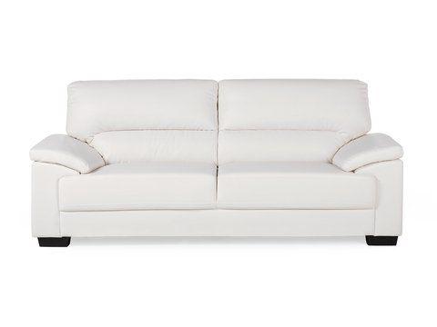 3 Sitzer Sofa Kunstleder Creme Vogar Furniture Sofa Center Table