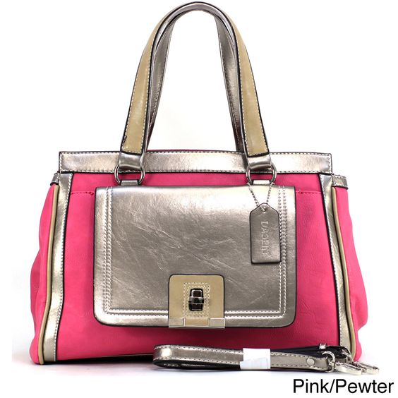 Dasein Two-tone Contrast Satchel