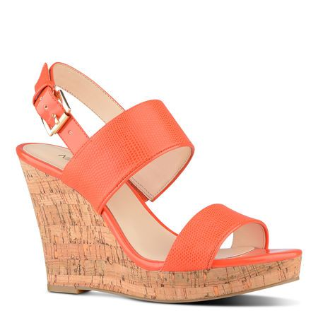 Lucini Orange Wedge Sandal | Nine West | Haute Summer | Pinterest