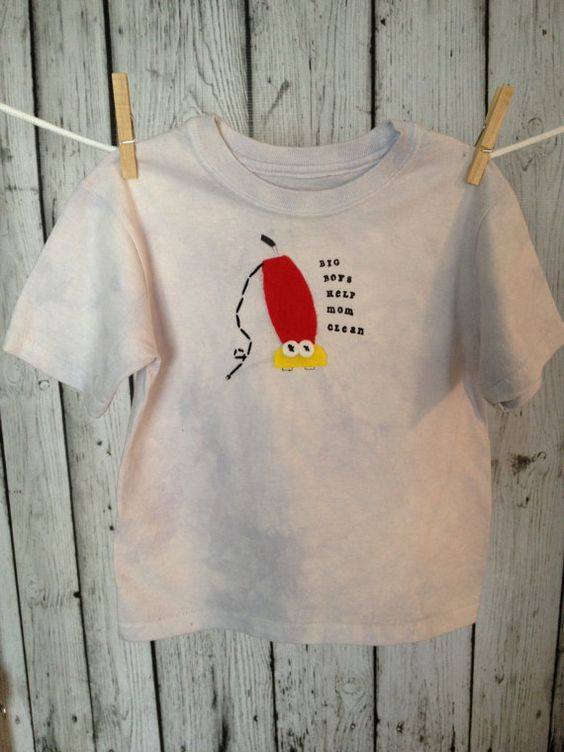 Size 4T - Big Boys Help Mom Clean - READY TO SHIP. $22.00, via Etsy.