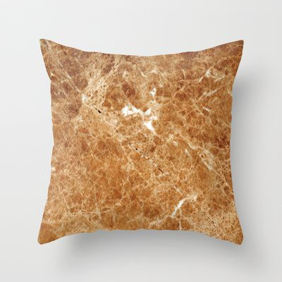 Marble Texture 34  Throw Pillow by Robin Curtiss - $20.00