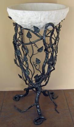 ... iron bathroom and more nice pedestal branches vines sinks vessel sink