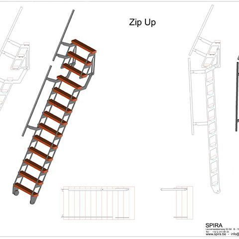 Zip Up Echelle Escalier Escamotable Avec Images Escalier