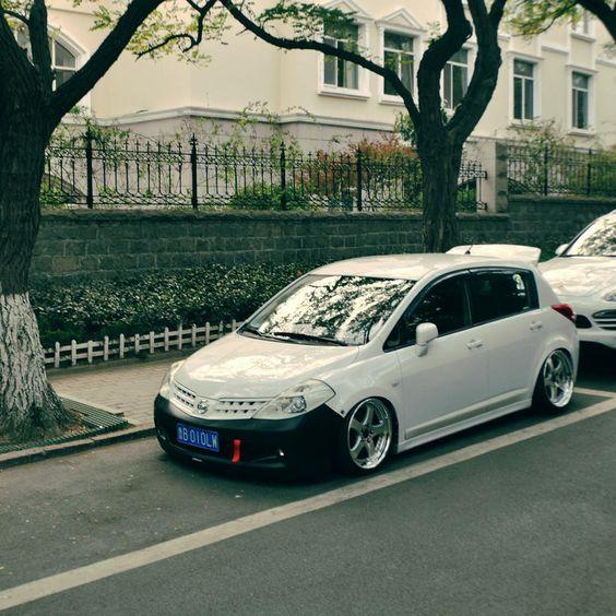 Nissan Hatchbacks: Low&Whisker #tiida #versa #nissan #lowalk #stance #JDM