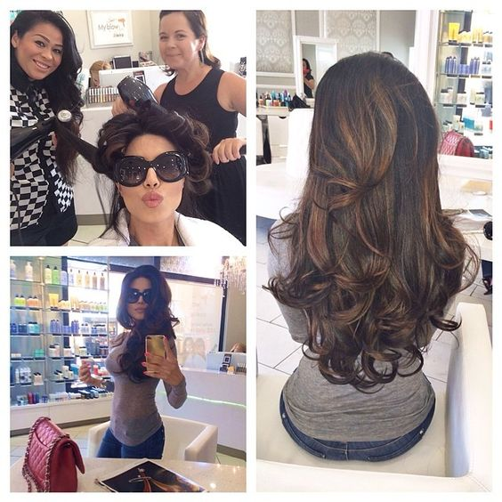 Thank you @hairbympalacios @myblowla Irvine Spectrum for my blowout today! I don't normally blow dry my hair but u ladies did a fab job! Definitely coming back! Ps. They also carry my full #milanihair line here. Check them out! #leylamilani
