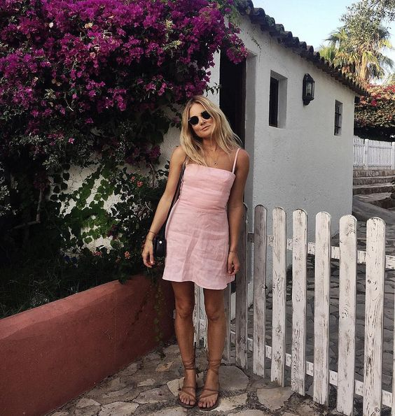 Pink mini dress, Fashion blogger, photography, trendy outfit, casual style, spring fashion, date night outfits, summer fashion, outfit inspiration, spring Style ideas,