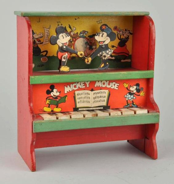 Lot # : 953 - Marks Bros Walt Disney Wooden Piano Toy.